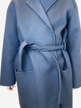 Load image into Gallery viewer, Black cashmere belted coat - size IT 44