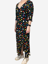 Load image into Gallery viewer, Carmen space tulip short sleeve midi dress with slit - size S/P