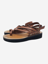 Load image into Gallery viewer, Brown strappy sandals - size EU 38