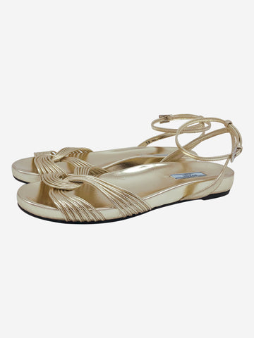 Gold strappy sandals - size EU 38
