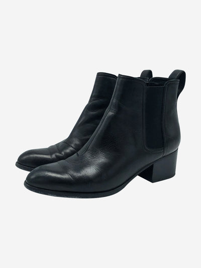 Black Chelsea ankle boots - size 39.5