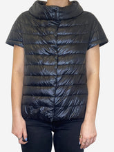 Load image into Gallery viewer, Emilia black cap sleeve puffer jacket - size S