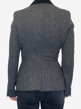 Load image into Gallery viewer, Black & Grey Alexander McQueen Blazer, 10