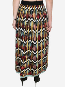 Multi coloured printed skirt in knit - size S