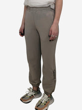 Load image into Gallery viewer, Beige Cotton elastic waist joggers - size S