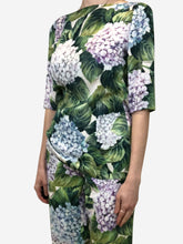 Load image into Gallery viewer, Green, white, purple & blue floral print top - size IT 42