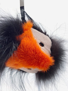 Fendi Navy & orange Fur Monster keychain
