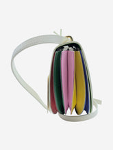 Load image into Gallery viewer, Caroline cream & rainbow pleated crossbody bag