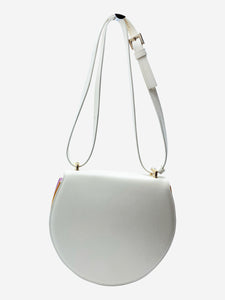 Sara Battaglia Caroline cream & rainbow pleated crossbody bag