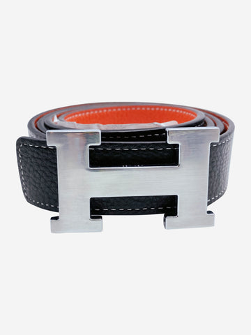 Black & orange reversible belt - size 44/110