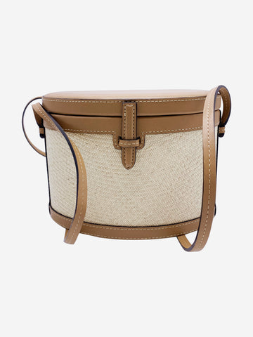 The Round Turk wicker and leather crossbody bag