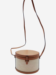 Hunting Season The Round Turk wicker and leather crossbody bag