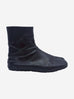 Black flat Tabi leather split toe ankle boots - size EU 39