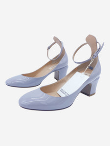 Tango grey patent-leather Mary Jane block heel pumps - size EU 38