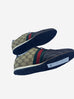 Brown monogram trainers with red and green stripe - size EU 40