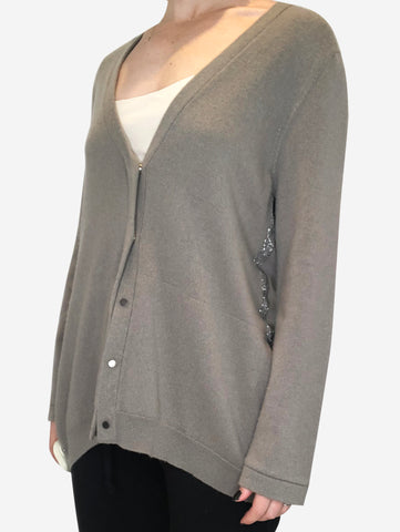 Sage Long cardigan - size 12