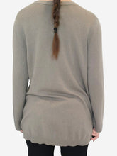 Load image into Gallery viewer, Sage button front cashmere jumper - size 12