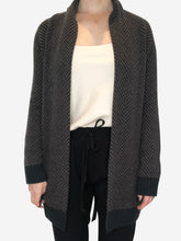 Load image into Gallery viewer, Brown & Black herringbone baby cashmere cardigan - size S