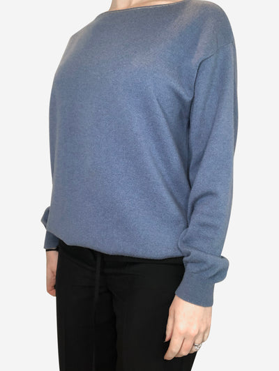 Blue long sleeved cashmere sweater  - size M