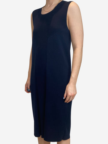 Navy cashmere blend sleeveless knit dress- size L
