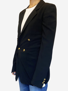 Black double breasted blazer with gold buttons - size FR 36