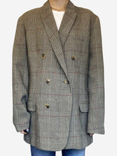 Load image into Gallery viewer, Grey Prince of Wales check blazer - size M