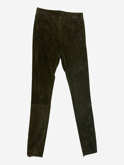 Brown suede leggings - size XS