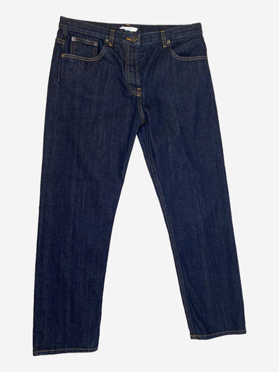 Dark blue straight leg jeans - size UK 12
