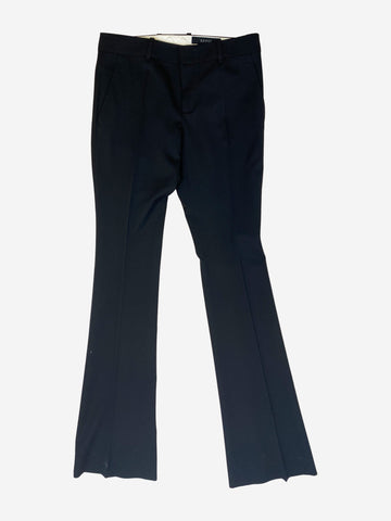 Black tapered suit trousers - size UK 10