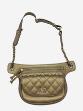 Load image into Gallery viewer, Gold Chanel Waist bag