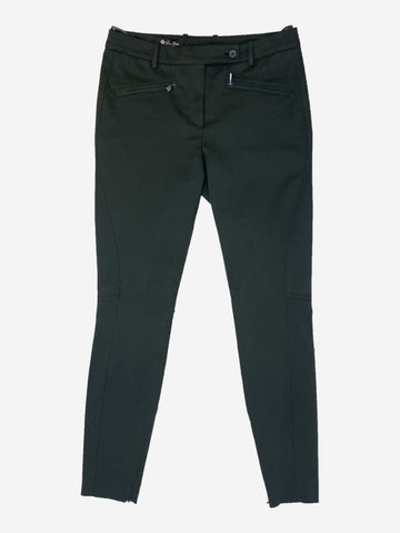 Dark green tapered fit trousers - size UK 10