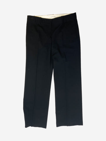 Black wide leg trousers - size UK 14