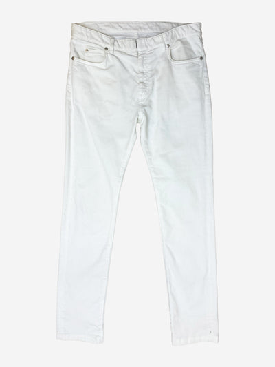 White straight leg jeans - size UK 12