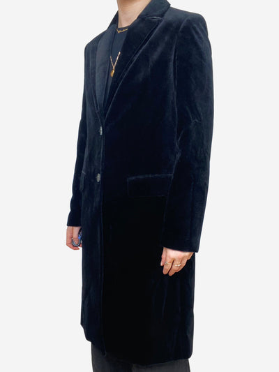 Black velvet jacket - size FR 34