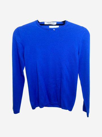 Electric blue slim fit boat neck sweater - size M