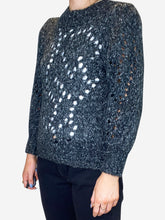 Load image into Gallery viewer, Grey open knit jumper - size FR 36