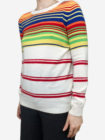 Multicolour striped cashmere sweater - size S