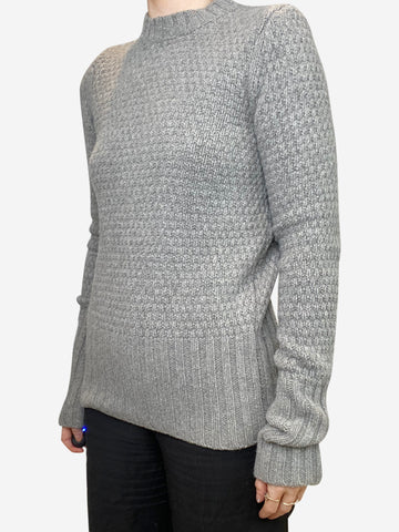 Grey wool/cashmere blend sweater - size S