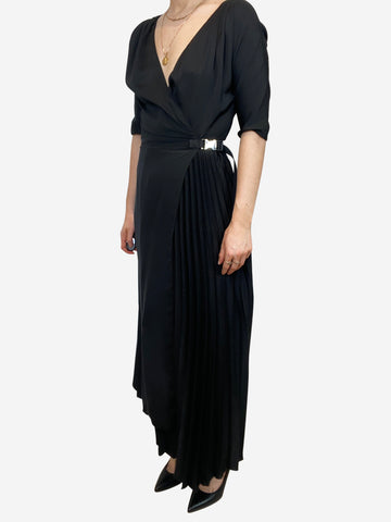 Asymmetric dress with nylon belt and pleating - size IT 38