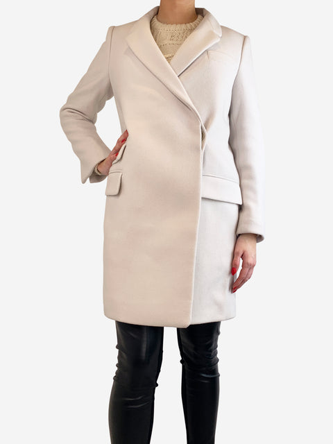 Stella McCartney Stone White Wool Coat Size 14 RRP £995 Stella McCartney - Timpanys