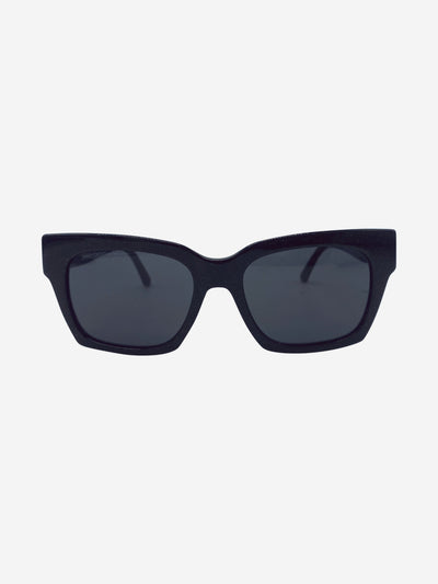Black glitter Jans square sunglasses