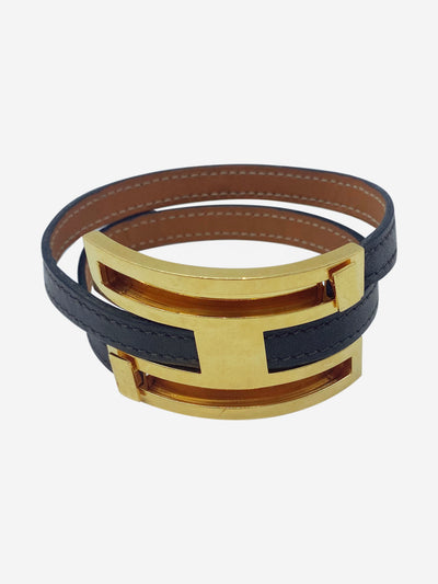 Brown & gold leather bracelet
