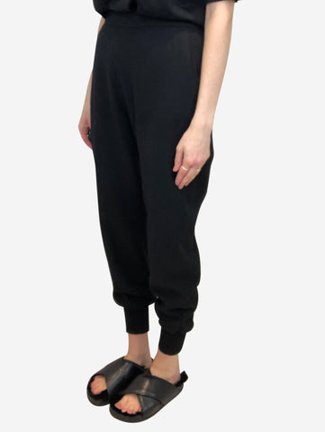 Julia black trousers with elasticated cuff - size IT 42
