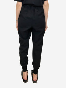 Stella McCartney Julia black trousers with elasticated cuff - size IT 42