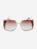 Gold and pink flamingo embellished sunglasses