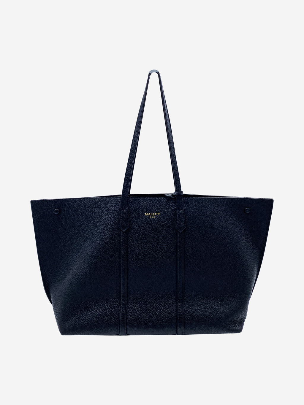 Laurie large black tote bag with inside wallet