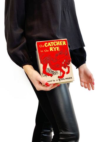 Olympia Le-Tan Red Fabric The Catcher In The Rye Book Clutch Olympia Le-Tan - Timpanys
