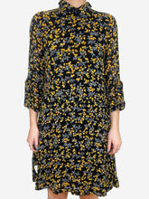 Load image into Gallery viewer, Black / yellow Ganni 3/4 sleeve, 8