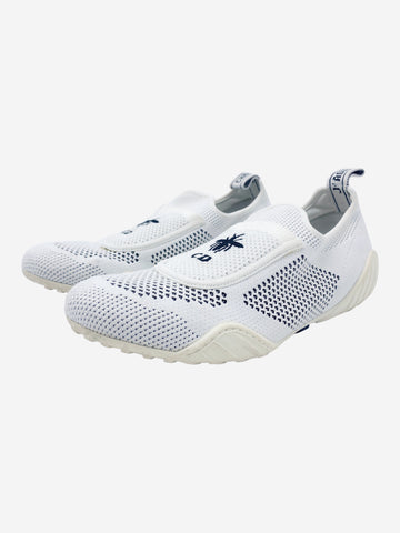 D-Bee white mesh trainers with CD embroidery - size EU 39