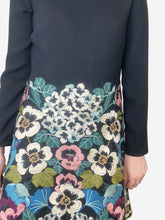 Load image into Gallery viewer, Black and multicolour floral skirt dress - size IT 44